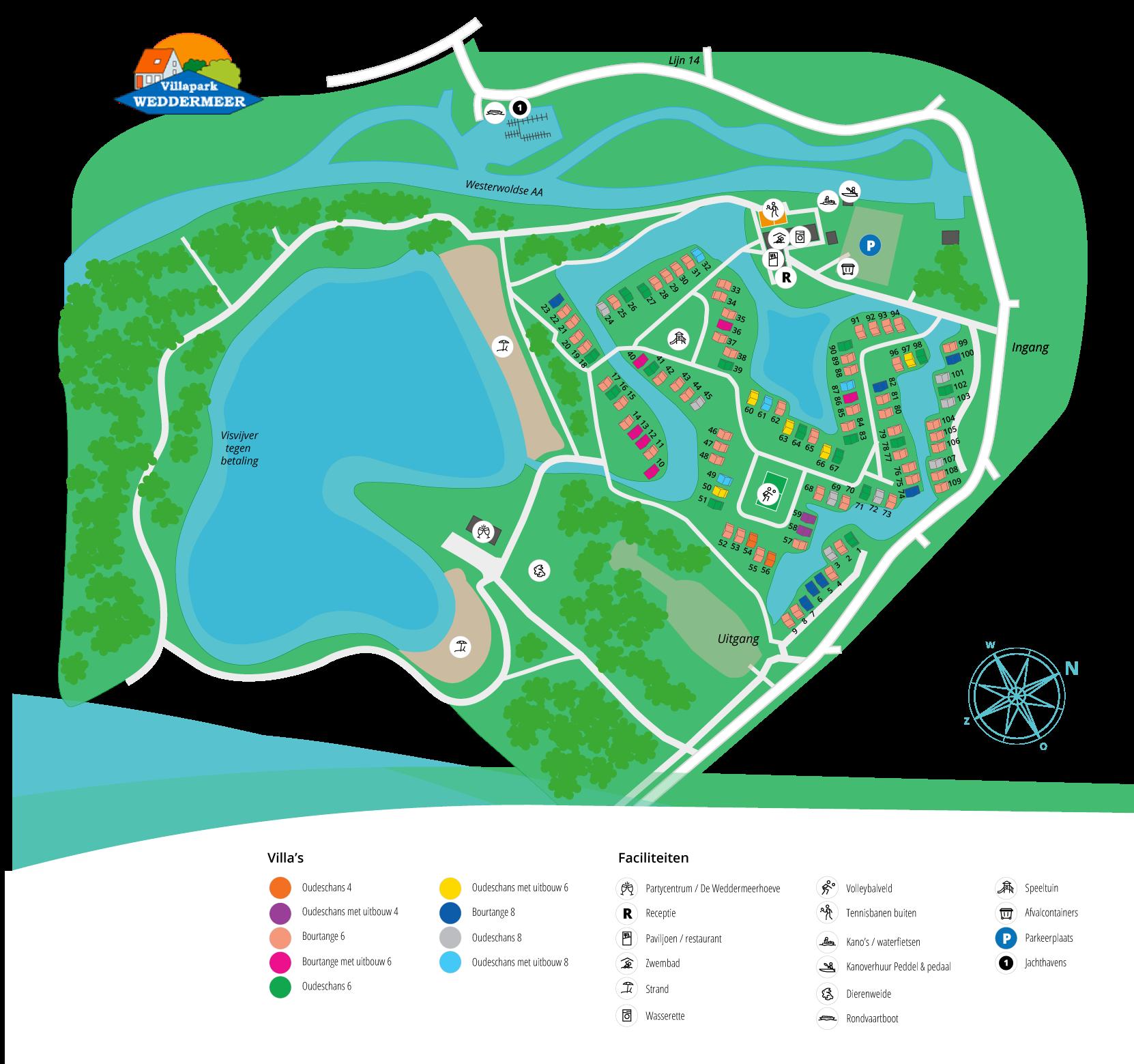 plattegrond villapark weddermeer